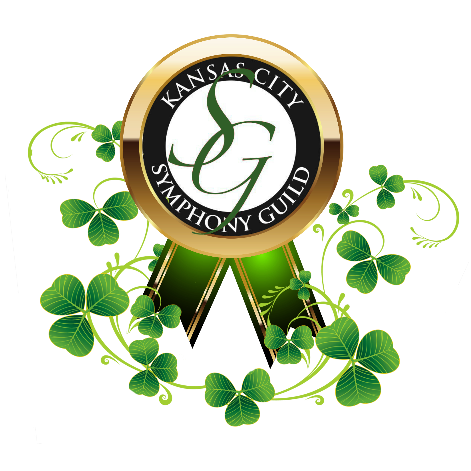 Kansas City Symphony Guild logo with shamrocks